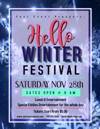 HELLO WINTER FEST FESTIVAL VIDEO Flyer
