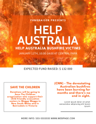 Help Australia Donation Event Flyer Template