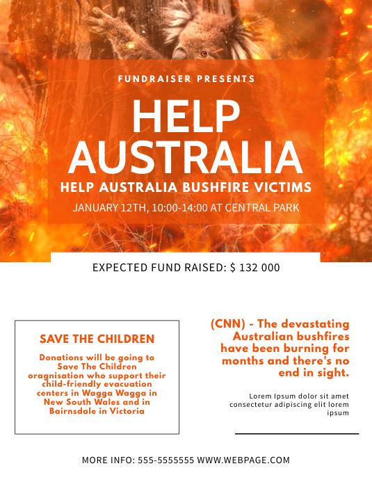 Help Australia Donation Event Flyer Template