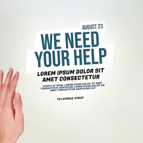 help fundraiser charity event video template