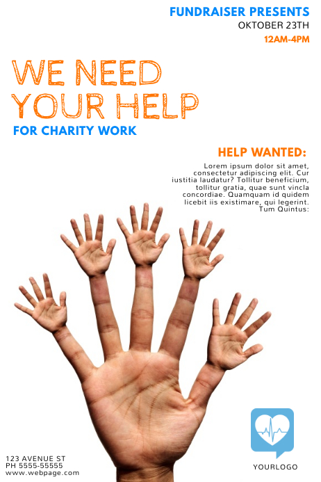 Help Fundraising Flyer Template  Postermywall