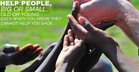 HELP POOR PEOPLE QUOTE TEMPLATE Facebook-Anzeige