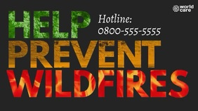 Help prevent wildfires Presentasi (16:9) template