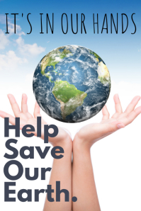 Help Save Earth Poster Template