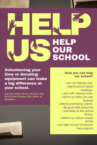 Help School Flyer Design Template