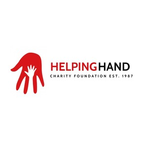 helping hand icon logo red and black colors d template
