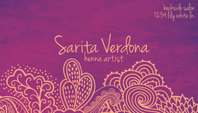 Henna Artist Business Card