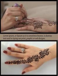 Henna flyer template