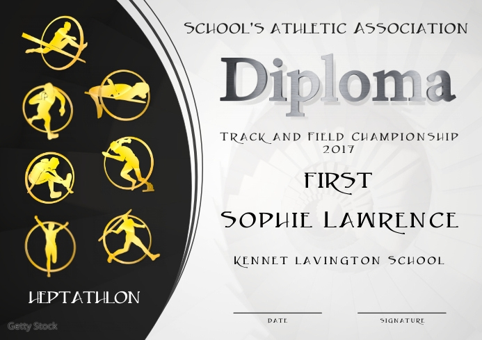 heptathlon diploma first