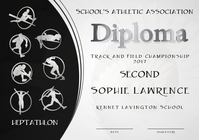 heptathlon diploma second