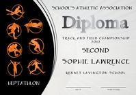 heptathlon diploma third