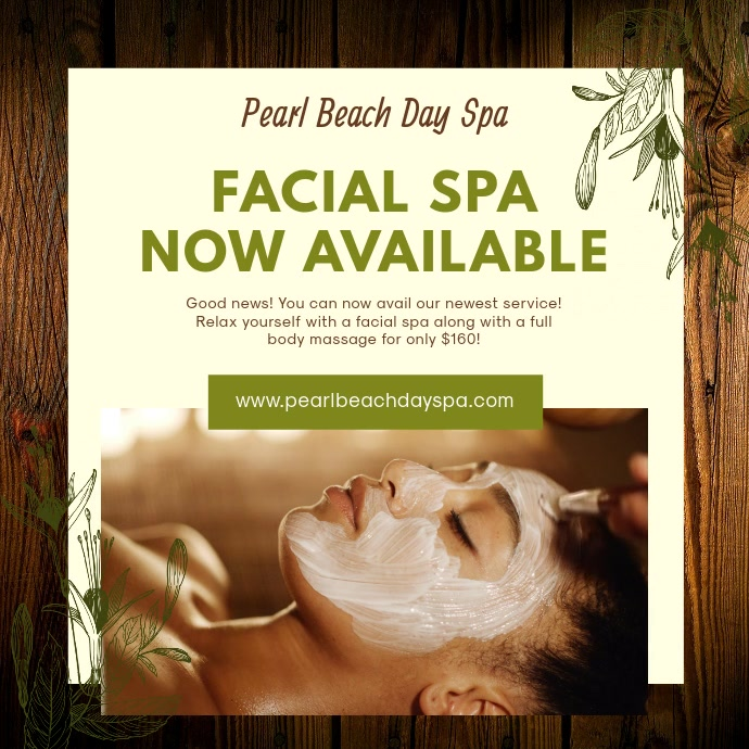 Herbal Facial Spa Online Ad