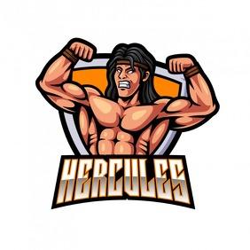 Hercule Mascot Logo Логотип template