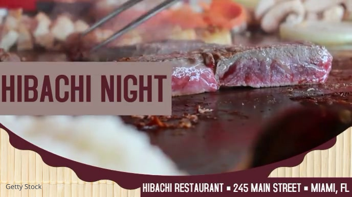 Hibachi Restaurant Restaurant Video Ad Digital Display (16:9) template