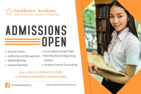 High School Admissions Open House Poster Template