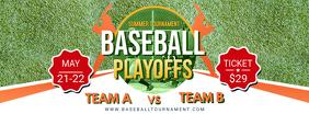 High School Baseball Banner Template Foto Sampul Facebook