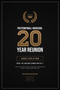 High School Class Reunion Flyer Poster template