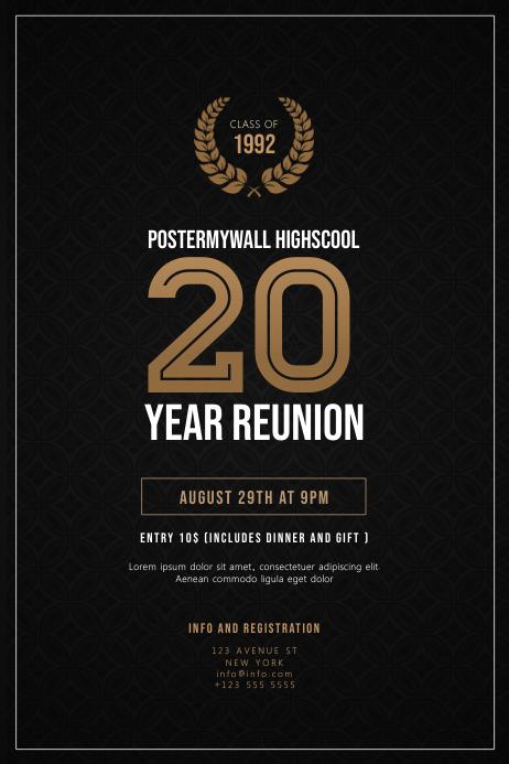High School Class Reunion Flyer Template Postermywall