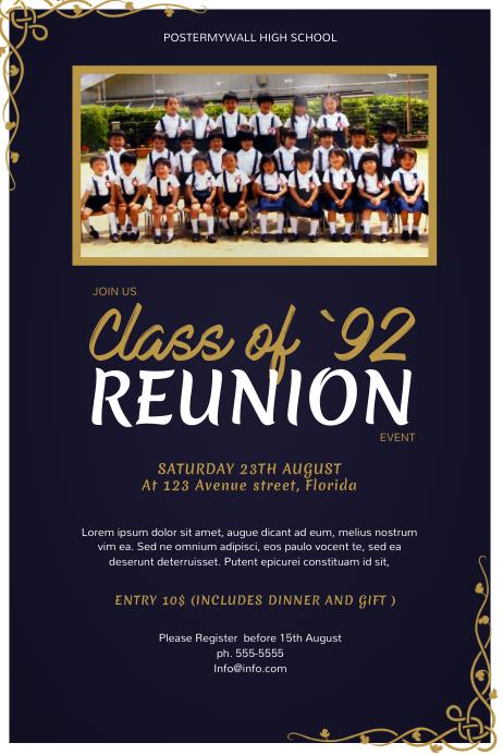 High School Class Reunion Flyer
