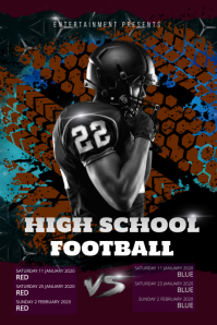 High School Football Signup Poster template