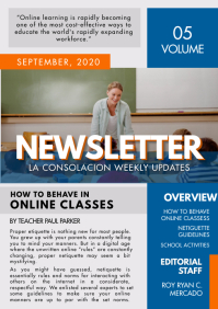 High School Newsletter Custom Template
