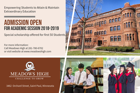 High School Open Admissions Ad Poster Template