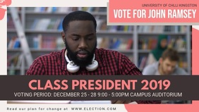 High School Presidential Election Facebook Banner template
