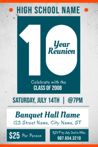 High school Reunion Event Poster Template
