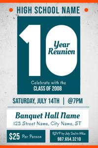 High school Reunion Event Poster Template