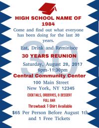 reunion flyer template