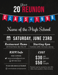 high school reunion flyer template