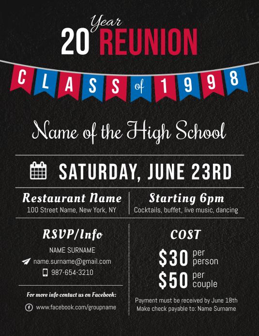 High school Reunion Flyer Template