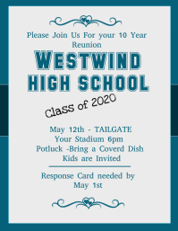 High School Reunion Flyer  Class Reunion Invitation Template