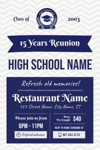 High school Reunion Poster Template