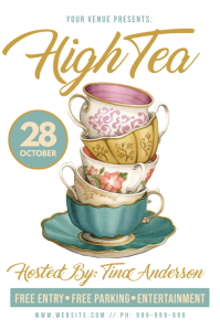 High Tea Poster template
