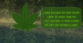 HIGH TO GET GREEN WEED TEMPLATE Facebook Shared Image