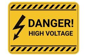 High Voltage Sign - Warning Sign