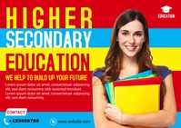 Higher Education Banner Ad Template Cartolina