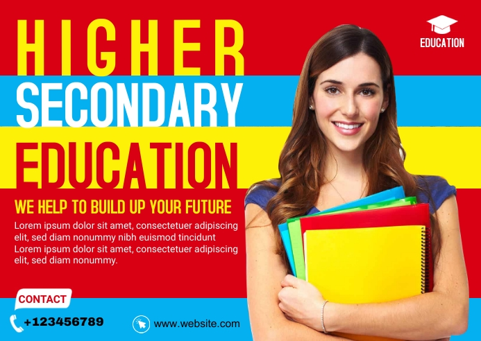 Higher Education Banner Ad Template Briefkaart