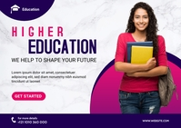 Higher Education Banner Ad Template Postcard
