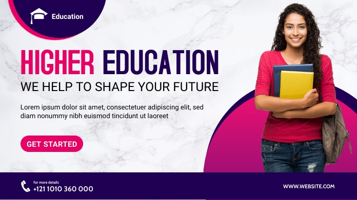 Higher Education Banner Post Template