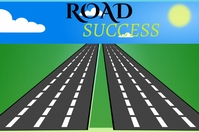 Highway road Poster template