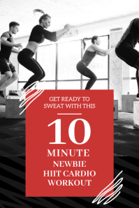 HIIT CARDIO Pinterest Graphic template