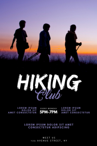 Hiking Club Flyer Design Template Poster