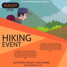 HIKING Event KIDS CAMP SCOUTS AD Template Square (1:1)