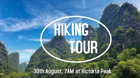 Hiking tour video poster