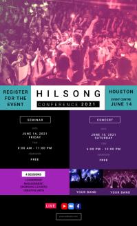 Hillsong Church Conference Flyer Oficio US template