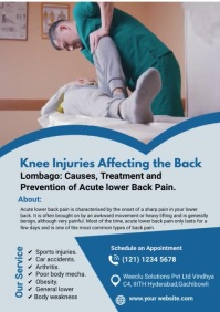 Hip & Knee Pain Relief A4 template