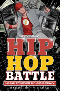 Hip Hop Battle Poster