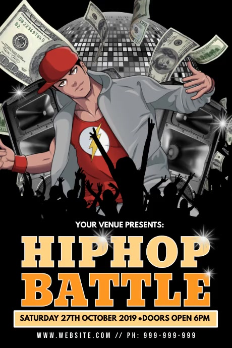Hip Hop Battle Poster Plakat template